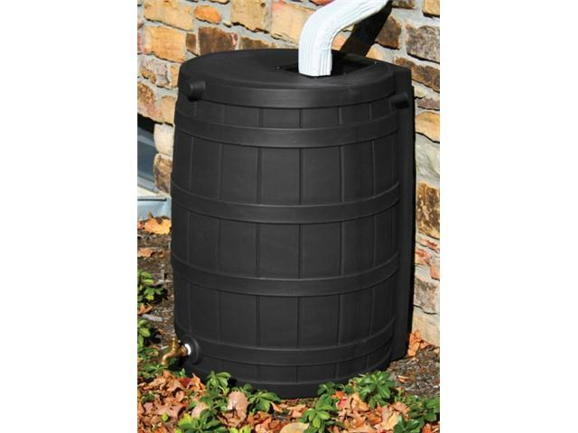 Sterling Rain Wizard 50, 50-Gallon Rain Barrel - Black - by Commerce