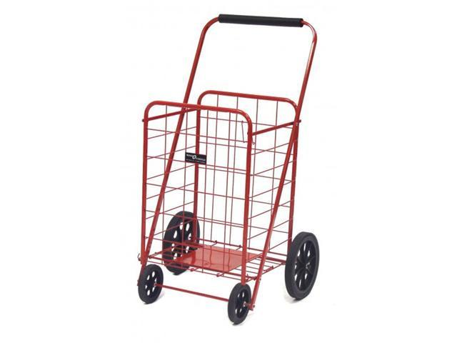 Super Shopping Cart - Folding Grocery Cart - Red - by Narita Trading