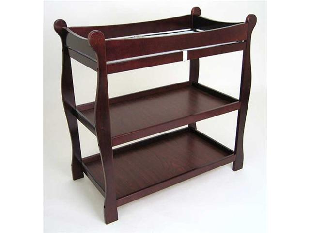 Sleigh Style Changing Table - by Badger Basket