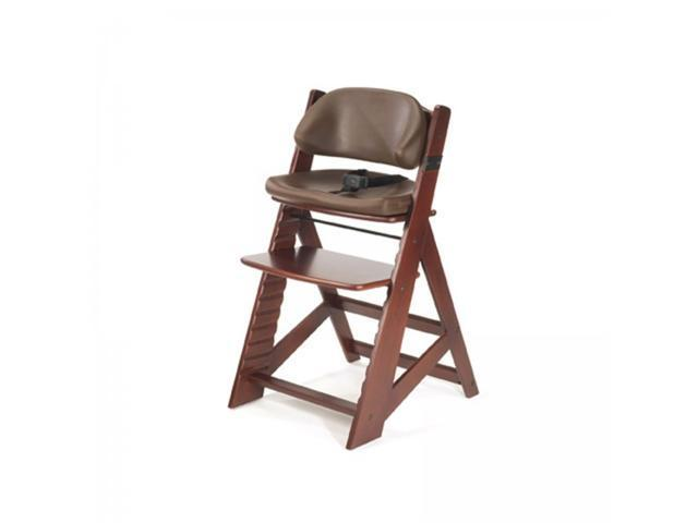 Height Right KIDS Chair in Mahogany with Comfort Cushions - by Keekaroo