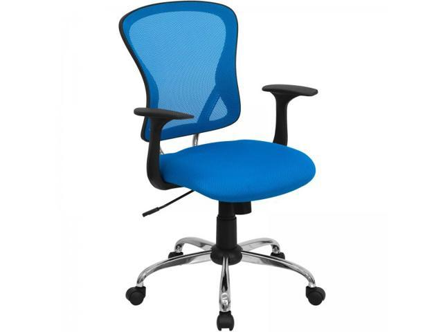 Flash Furniture Mid-Back Blue Mesh Office Chair with Chrome Finished Base [H-8369F-BL-GG]