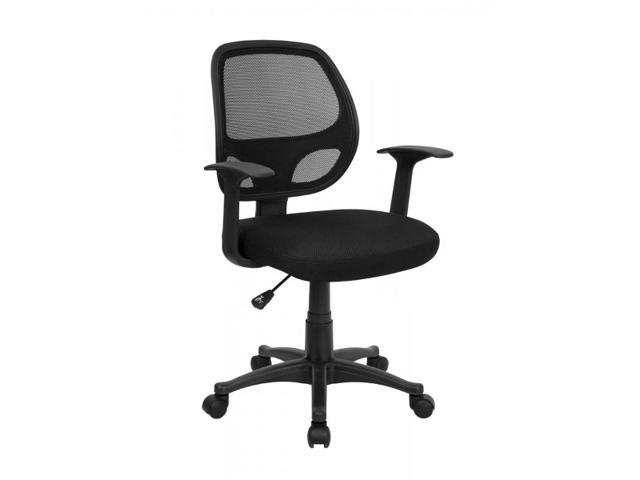 Flash Furniture Mid-Back Black Mesh Computer Chair [LF-W-118A-BK-GG]