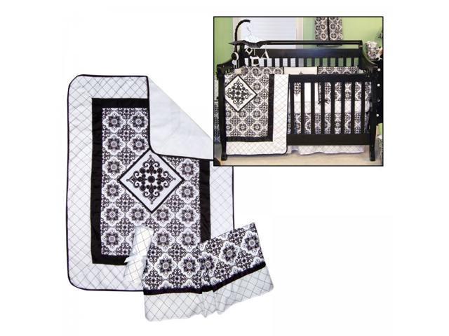 Trend Lab Versailles Black & White - 3 Piece Crib Bedding Set - 100767