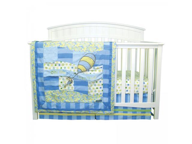 Dr. Seuss Blue Oh, The Places You'll Go 3 Piece Crib Bedding Set - by Trend Lab