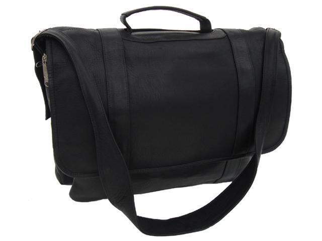 Traditional Leather Flap Portfolio - Black - by Piel Leather