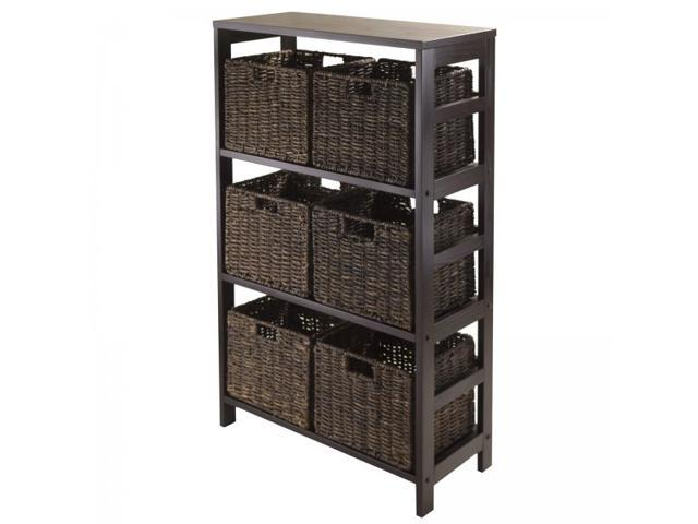 Granville Storage Shelf with 6 Foldable Baskets - by Winsome Trading
