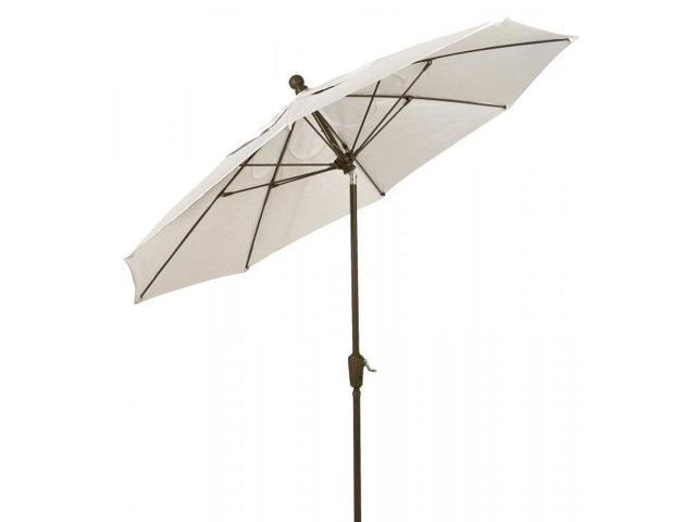 7 5 terrace umbrella with white pole by fiberbuilt for Terrace umbrellas