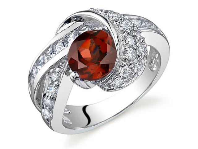 Mystic Divinity 1.50 carats Garnet Ring in Sterling Silver Size 9