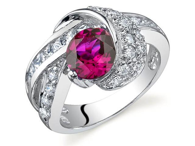 Mystic Divinity 1.75 carats Ruby Ring in Sterling Silver Size 5