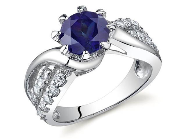 Regal Helix 1.75 carats Sapphire Ring in Sterling Silver Size 7