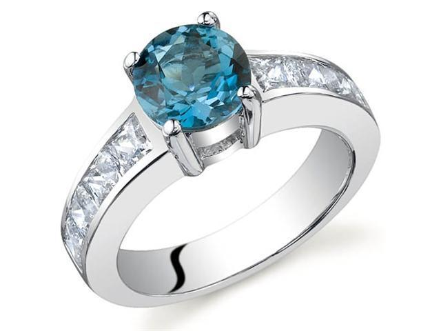 Simply Sophisticated 1.50 carats London Blue Topaz Ring in Sterling Silver Size 8