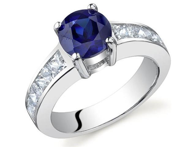 Simply Sophisticated 1.75 carats Sapphire Ring in Sterling Silver Size 6