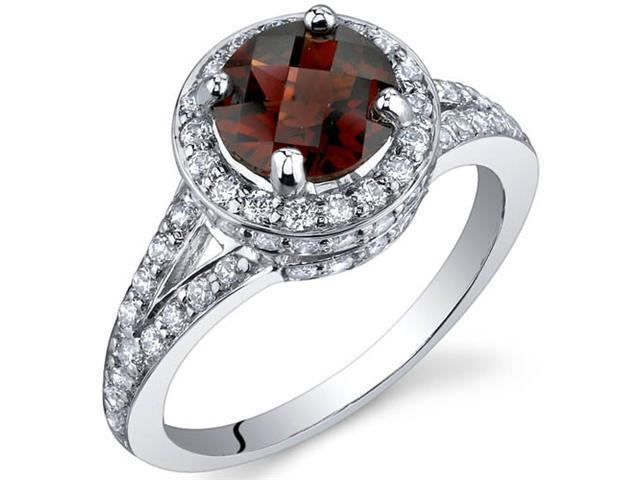 Majestic Sensation 1.50 Carats Garnet Ring in Sterling Silver Size 8