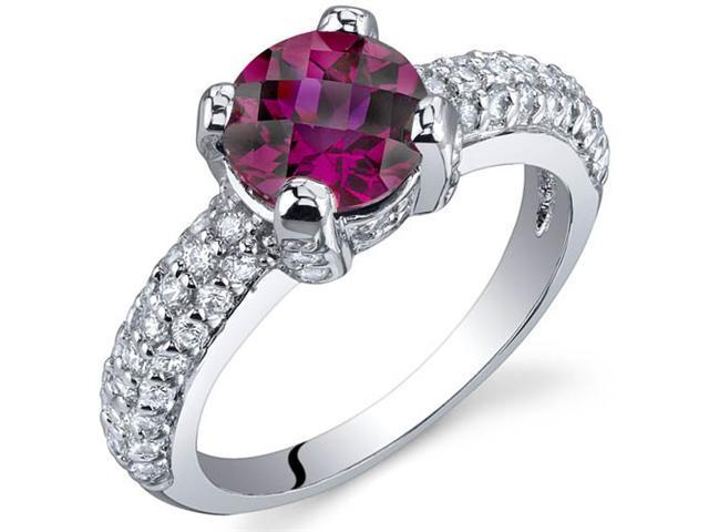 Stunning Seduction 1.75 Carats Ruby Ring in Sterling Silver Size 7