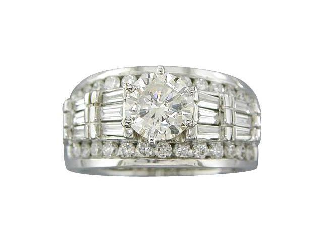 2.14CT DIAMOND ENGAGEMENT RING EGL CERTIFIED IN WHITE GOLD