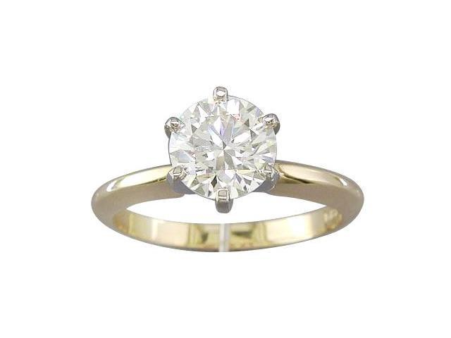 EGL CERTIFIED  I COLOR VS2 CLARITY 1.56CT DIAMOND SOLITAIRE RING