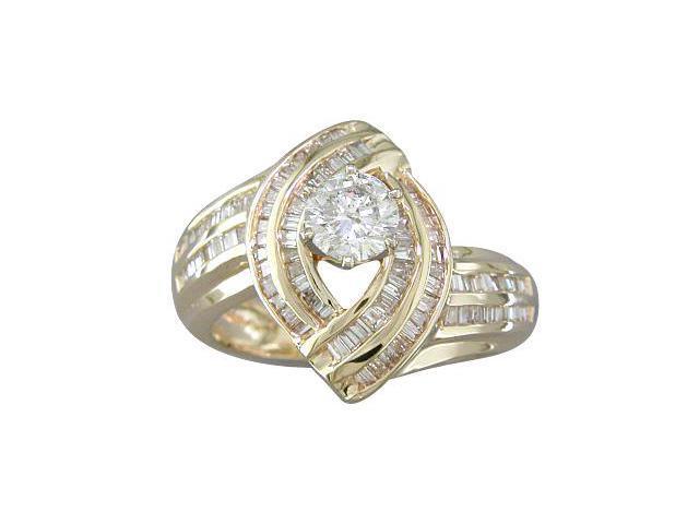 EGL CERTIFIED 1.34CT ROUND-TIP DIAMOND ENGAGEMENT RING