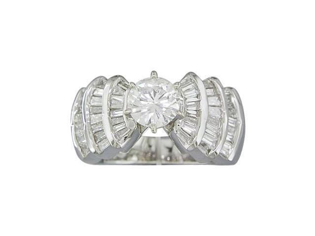 EGL CERTIFIED 1.94CTTW DIAMOND ENGAGEMENT RING