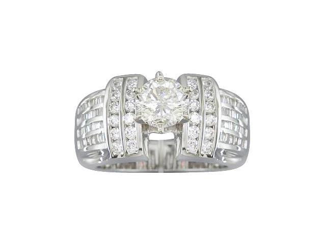 EGL Certified 1.72 cts Diamond Engagement Ring 14Kt White Gold