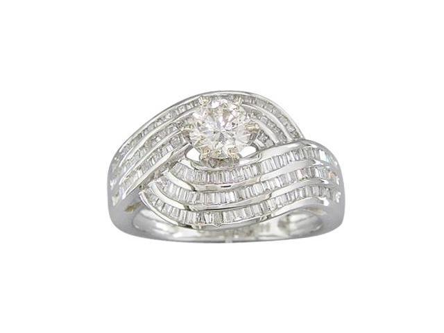 EGL Certified 1.56ct Diamond Engagement Ring 14Kt White Gold