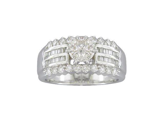 EGL Certified 1.63ct Diamond Engagement Ring 14kt White Gold