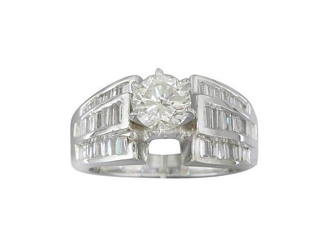 EGL Certified 1.83 cts Diamond Engagement Ring 14Kt White Gold