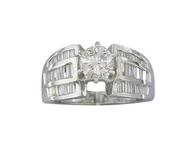 EGL Certified 1.79 cts Diamond Engagement Ring 14Kt White Gold