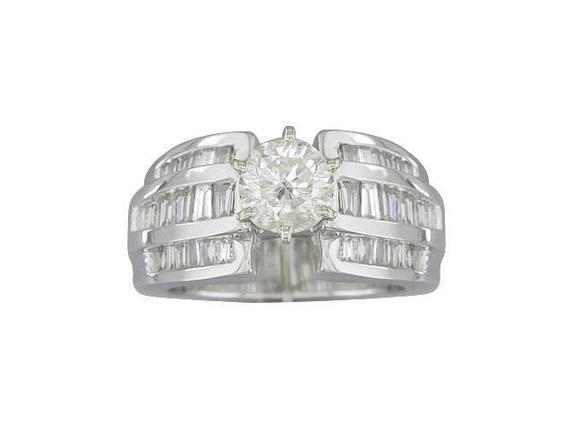 EGL Certified 2.23ct Diamond Engagement Ring 14kt White Gold