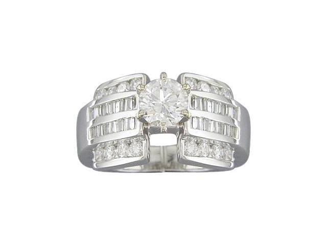 EGL Certified 1.29ct Diamond Engagament Ring 14kt White Gold