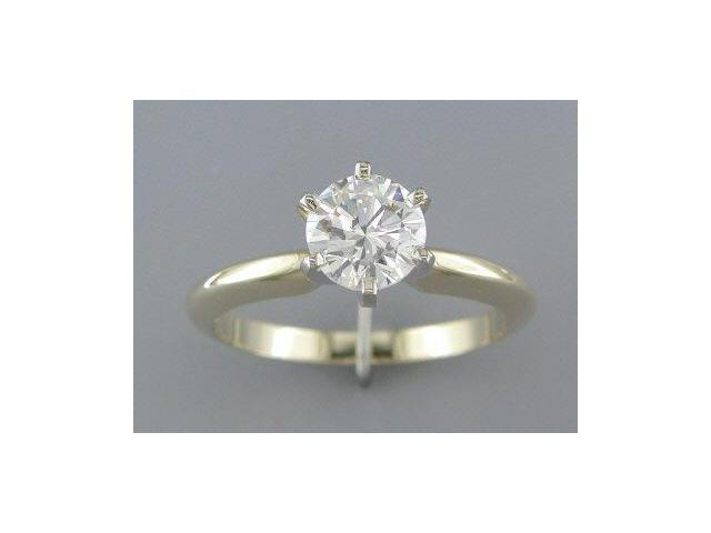 EGL CERTIFIED G/SI2 1.00CT DIAMOND SOLITAIRE RING