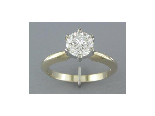 EGL CERTIFIED G/SI2 1.15CT DIAMOND SOLITAIRE RING