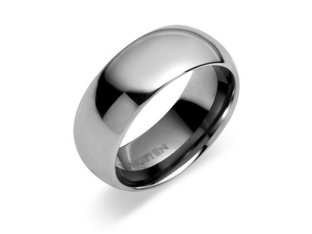 Classy 8mm Dome Style Comfort Fit Mens Tungsten Carbide Wedding Band Ring Size 11.5