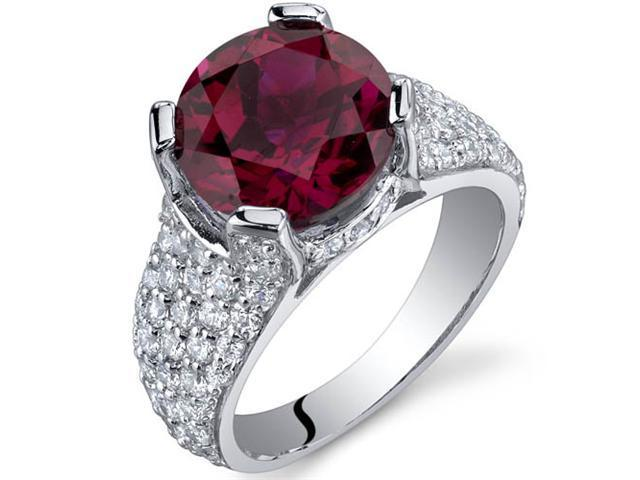 Striking Exuberance 5.00 Carats Ruby Ring in Sterling Silver Size 5