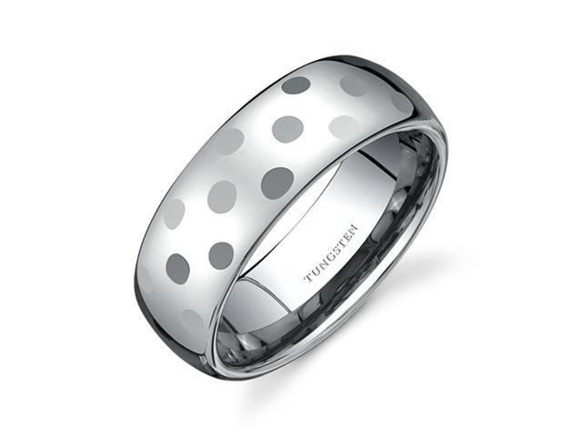 Classy Faceted 8mm Dome Style Comfort Fit Mens Tungsten Wedding Band Ring Size 11