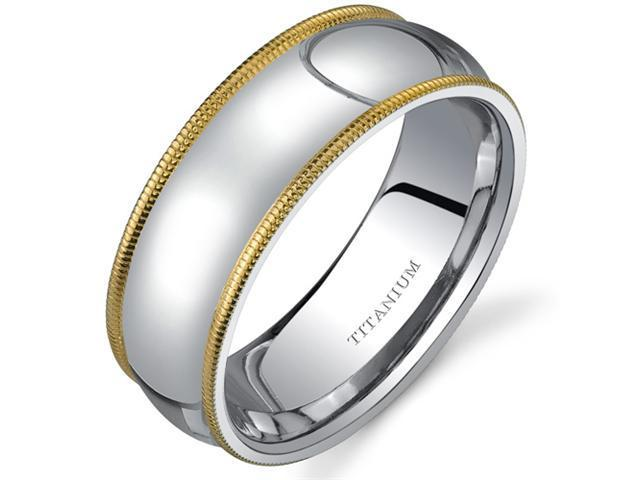 Classic Comfort fit 8 mm Mens Titanium Wedding Band Available Size 12