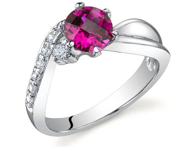 Ethereal Curves 1.00 carats Ruby Ring in Sterling Silver Size 5