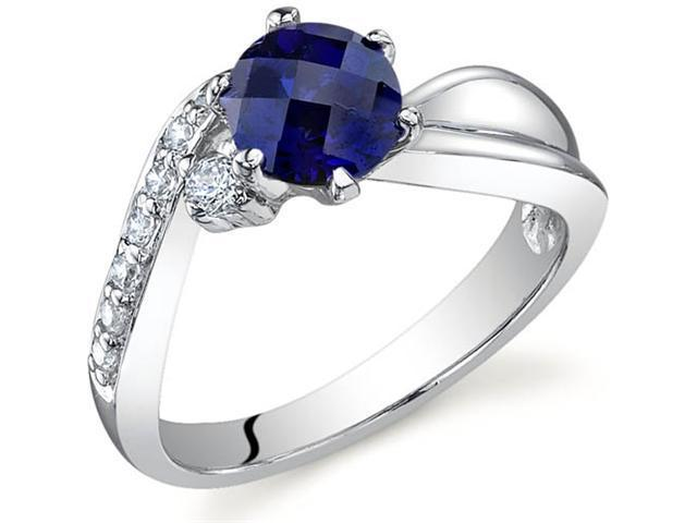 Ethereal Curves 1.25 carats Sapphire Ring in Sterling Silver Size 8