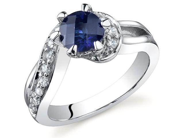 Majestic Wave 1.25 carats Sapphire Ring in Sterling Silver Size 5