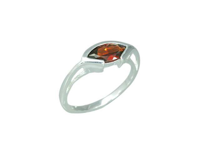 1.25 Carats Marquise Cut Genuine Garnet Sterling Silver Ring