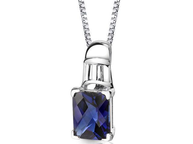 Ravishing Beauty Sterling Silver Blue Sapphire Pendant