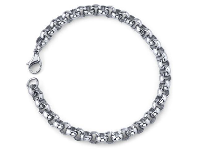 Cool and Classy: Mens Stainless Steel Rolo Link Bracelet