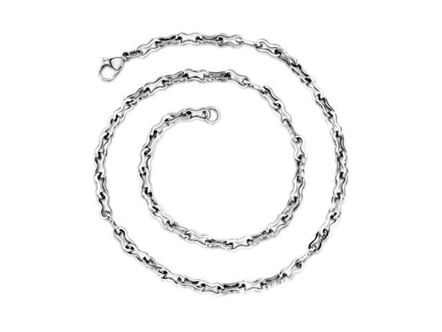 Elegant Figure 8 Mens Stainless Steel Necklace