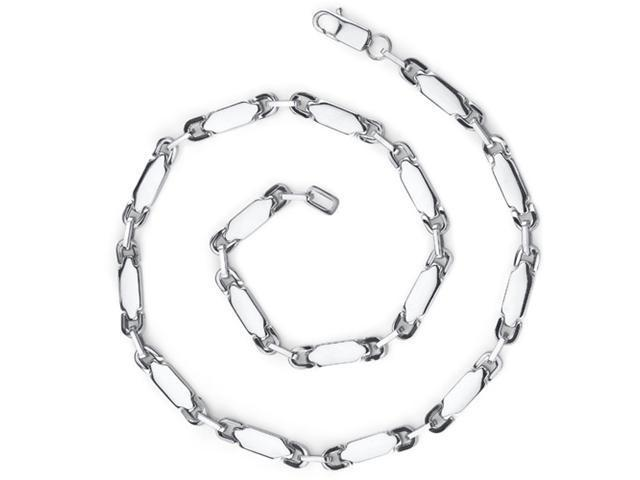 Masculine and Distinctive: Stainless Steel Fancy Heavy-duty Link Chain Necklace for Men