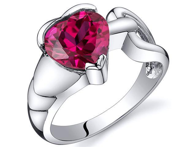 Love Knot Style 2.50 carats Ruby Ring in Sterling Silver Size  8, Available in Sizes 5 thru 9