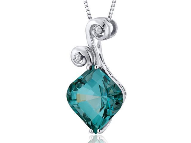 Unique Onion Cut 7.00 carats Sterling Silver Green Spinel Pendant