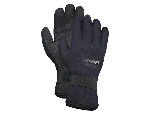 Seasoft 2/3mm Kevlar Reinforced Hunter Gloves - Large for Scuba or Water Sports