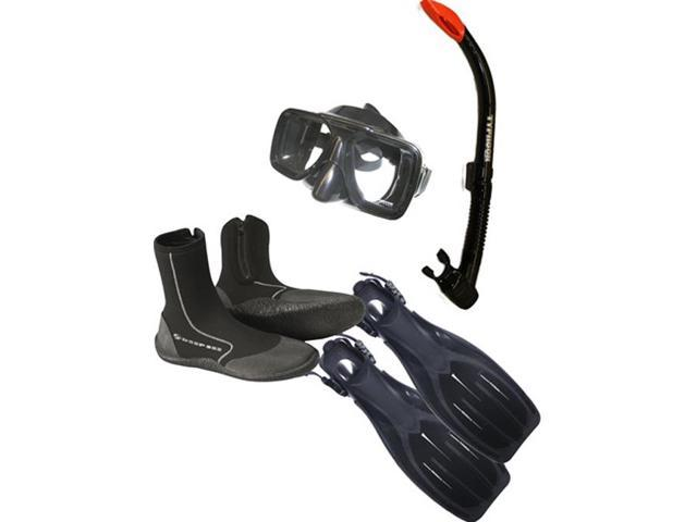 Typhoon Snorkeling Package - Size 9 - Black Great for Snorkeling