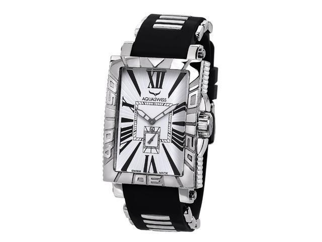 Aquaswiss 63G012 Anchor Man's Rectangular Curved Watch Stainless Steel