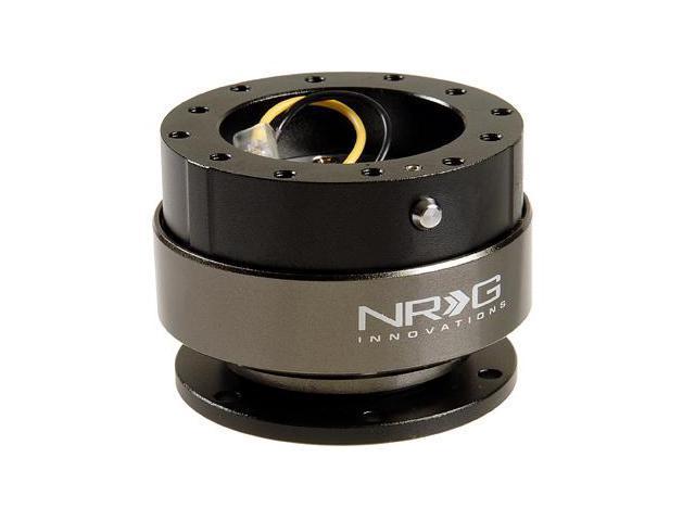 NRG Quick Release unit Gen 2.0 - Srk-200BK (Black Body w/ Titanium Chrome Ring) NRG Innovations Steering Wheel Quick Release Unit  JDM
