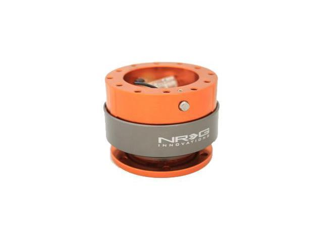 NRG Quick Release Gen 2.0- Srk-200OR  (ORANGE Body w/ Titanium Chrome Ring) NRG Innovations Steering Wheel Quick Release Unit  JDM